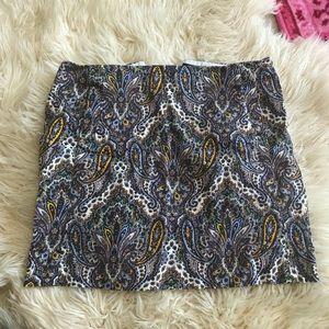 Jcrew paisley skirt (mini)